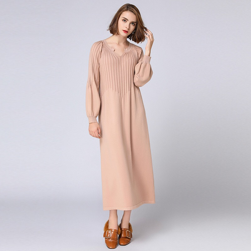 Anya 2018 New Winter Dress Fashion Maternity Dress Large Size Casual Pregnancy Dress Plus Size Dress Long Sleeve Knitted Vestido