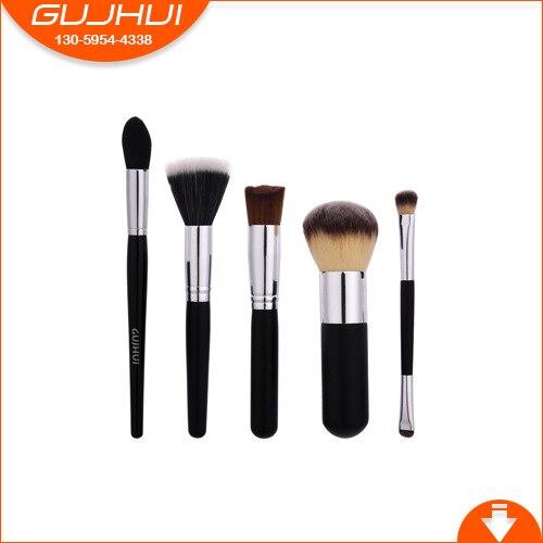 5 makeup brush sets, beauty tools, flame brush, powder foundation flat brush, GUJHUI 5 mermaid makeup brush sets beauty tools make up equipment powder brush gujhui one