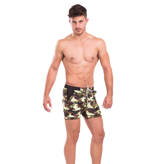 Taddlee Brand Sexy Men's Swimwear Swimsuits Men Long Swimming Boxer Trunks Bikini Camo Beach Board Shorts Pockets Bathing Suits