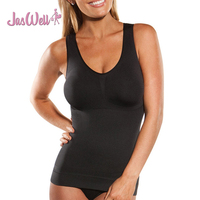 JasWell 2017 Summer Fashion Women Body Shaper Removable Plus Size Bra Cami Tank Top Underwear Slimming