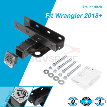 """2"""" Class 3 Towing Trailer Hitch Receiver Mount Hitch Fit For Jeep Wrangler JL 2018 2019 2020 truck trailer hook"""