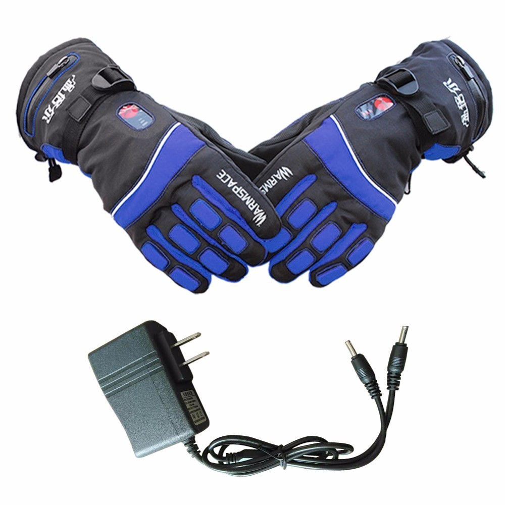 Electric Rechargeable Heated Gloves Ski Cycling Bicycle Bike Temperature Control Gloves Winter Outdoor Hand Warm Heating Gloves windproof 5 fingers heated skiing gloves waterproof cycling rechargeable gloves electric heating gloves