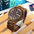 Zs-w086b bewell madeira assista homens de luxo da marca analógico movimento de quartzo data relógios de pulso à prova d' água masculino relogio masculino 2017