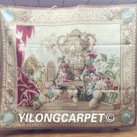 Yilong 5.2'x6' Gobelin Picture Tapestry Pure Wool Handmade Aubusson Tapestry Wall Hangings (Au31 5.2x6)