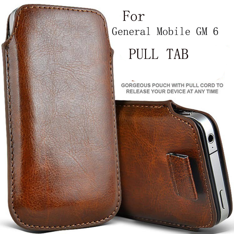 Casteel PU Leather Case For General Mobile GM 6 GM6 GM 5 Plus GM5 PLUS GM 4G Pull Tab Sleeve Pouch Bag Case Cover Shield image