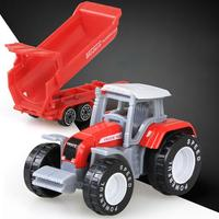 LeadingStar 4Pcs Set Children Simulation Alloy Farm Tractor Engineering Truck Toys Xmas Vehicles Models Gifts ZK35