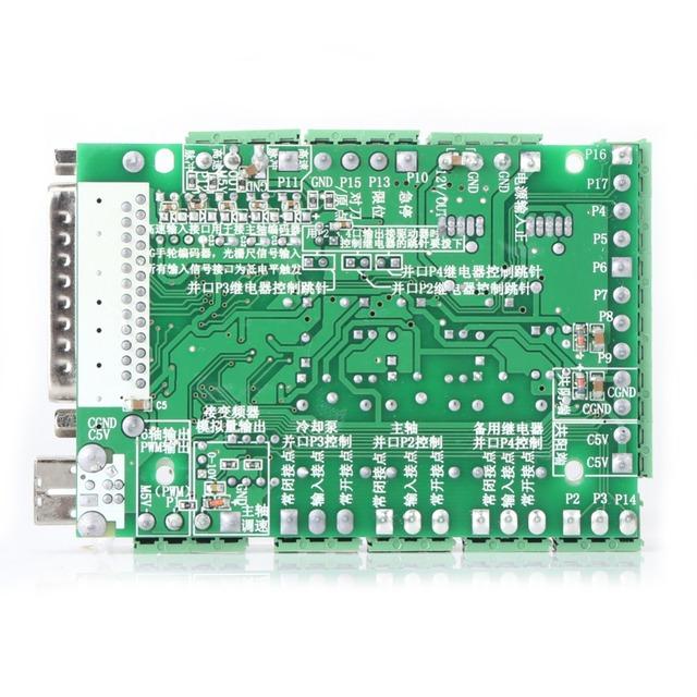 CNC Breakout Board Stepping Motor Driver Breakout Module Controller 4-axls 6-axls Engraving Machine Board MACH3V2.1-L
