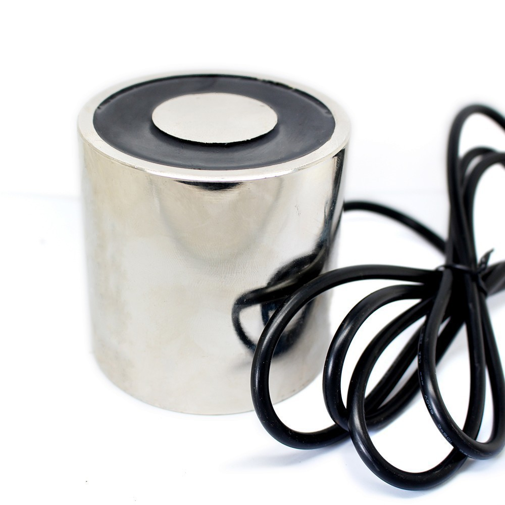 65*60mm Large Suction 100KG DC 5V/12V/24V solenoid electromagnet electric Lifting electro magnet strong holder cup DIY 12 v volt dc 24v 1 2a 18mm 0 3kg pull electric solenoid electromagnet coil
