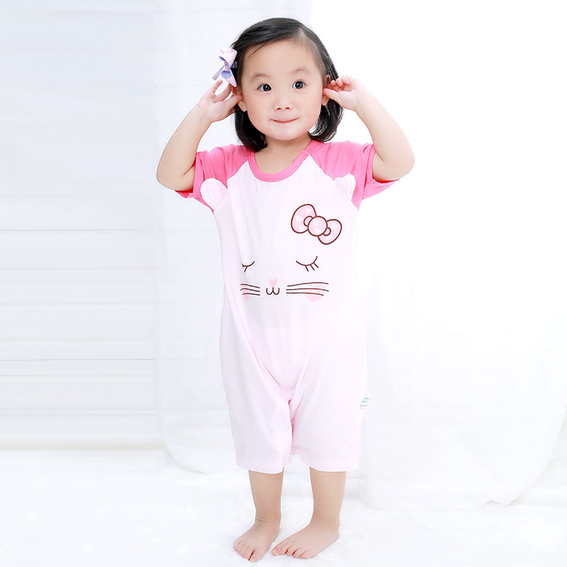 Baby Rompers Toddler Baby Boy Girls Clothing Summer Short Sleeve New Baby Girl Clothes Romper Newborn Infant Rompers Jumpsuits baby boys rompers infant jumpsuits mickey baby clothes summer short sleeve cotton kids overalls newborn baby girls clothing