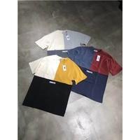 KITH TREATS T shirts 2019 TRI BLOCK Colour Patchwork Cotton KITH T shirt Men Women 1:1 Loose Japan TREATS Top Tee