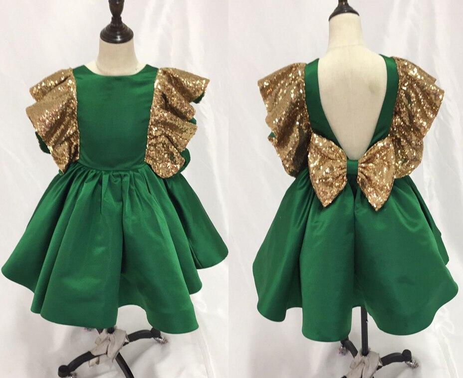 Free Shipping Fashion Ball Gown O Neck V Back Satin Tea