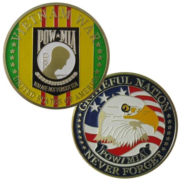 Соединенные Штаты Америки Вьетнамская война POW-MIA 24 К GP Монетка 1060