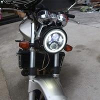 DOT 7 inch Halo LED Headlight Daymaker for Harley Davidson Ultra Classic Electra Glide Street Glide Fat Boy Road King Headlamp