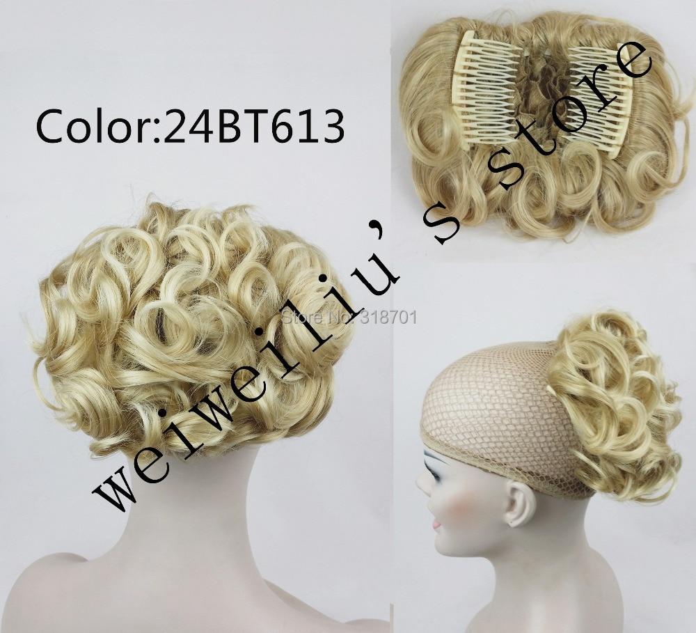 Women's chignon bun, Combs...