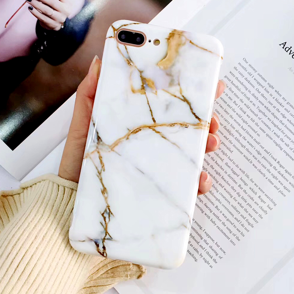 Galleria fotografica Mooshion Fashion Marble Phone Case for iPhone X 6 6S Plus Case Classic Stone Painted for iPhone X 7 8 Plus Cases Cover