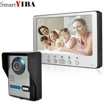 SmartYIBA 7″ Wired Video Door Phone Home Security Intercom System Doorphone With Waterproof Outdoor IR Camera Night Vision color