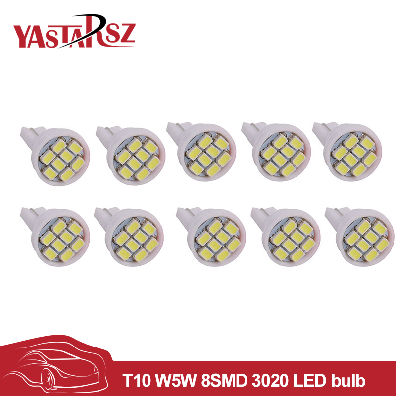 10x T10 Led 3020/ 1206 SMD 8SMD 8 led Bright LED LIGHT BULBS 194 2825 921 168 175 W5W Super bright Auto led Car light Cool White 4pcs super bright t10 w5w 194 168 2825 6 smd 3030 white led canbus error free bulbs for car license plate lights white 12v