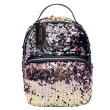 купить Mini Women Backpack School Bags For Teenage Girls Pu Small Backpacks Female Travel Rucksack Sequins Mochila sequin bagpack по цене 557.52 рублей