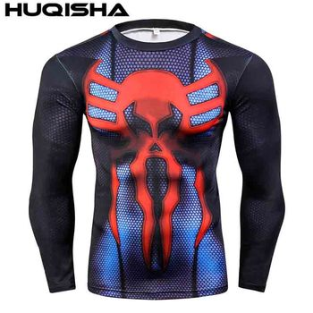 Mens MMA Fitness Rashguard T Shirts Fashion 3D Teen Wolf Long Sleeve Palace Compression Shirt Man Bodybuilding Clothing 4