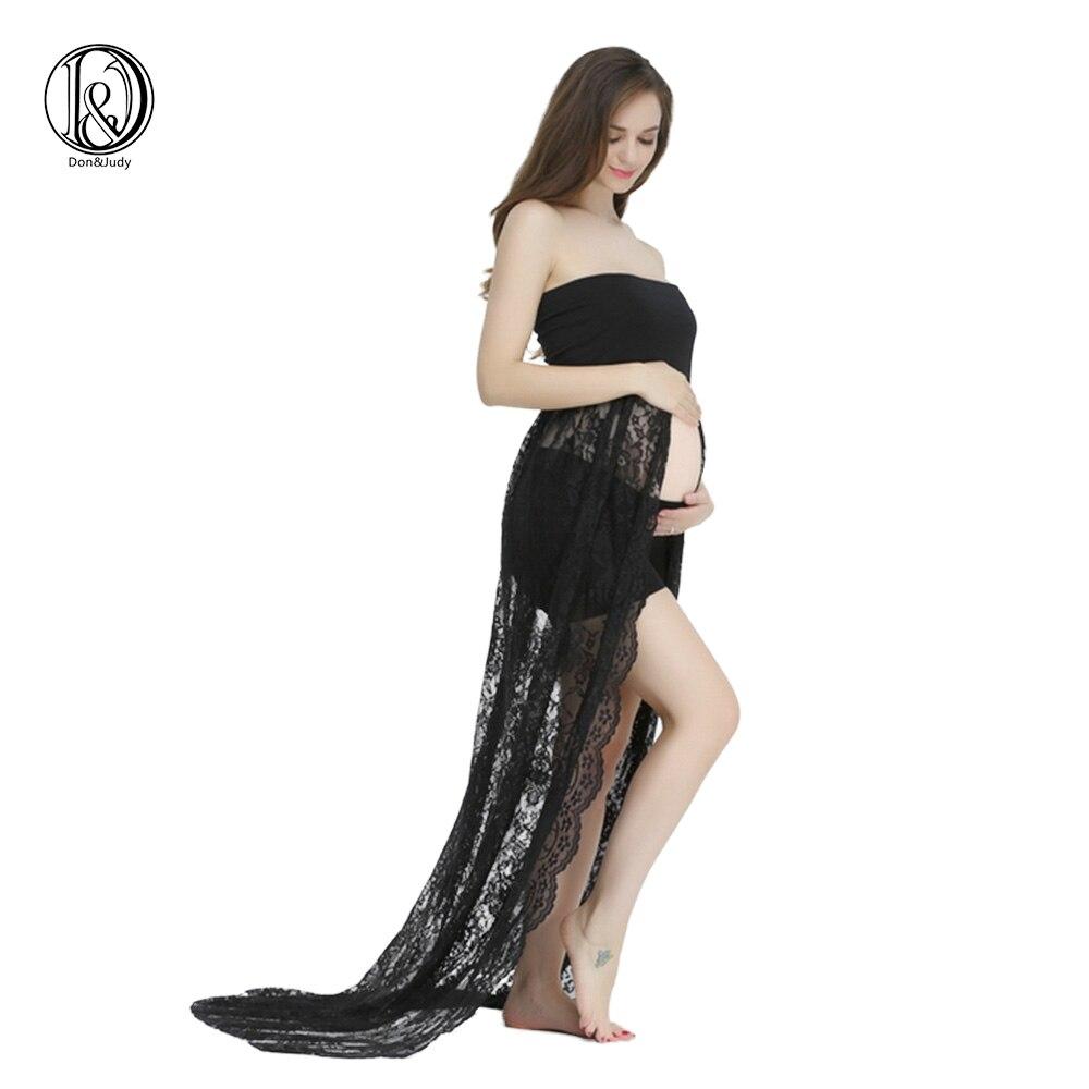 Maternidad embarazada vestido de encaje Boob tubo para foto shoot ...