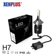 Xenplus 2PCS Mini H7 LED H1 H3 H11 H8 9005 9006 5202 H4 Hi/Lo Beam headlight Turbo fan bulbs 12V 48W 7200LM fog lights for auto(China)