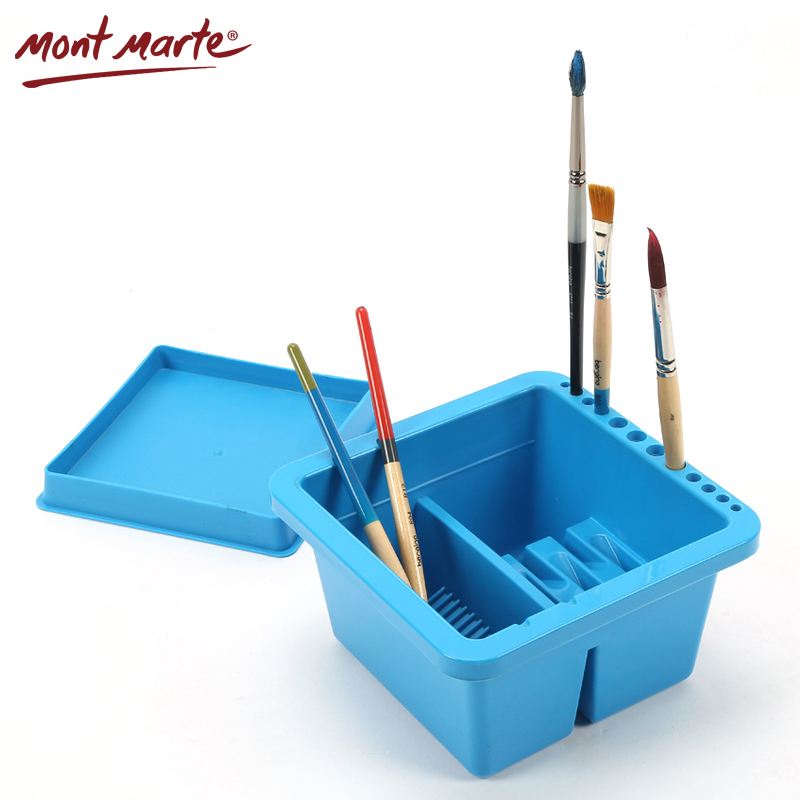 Mont Marte Brush Washing Bucket Multifunction Pen Barrel Brush Washer Watercolor Oil Acrylic Painting Brush Washer