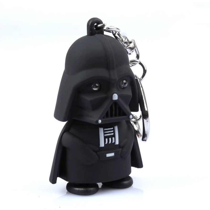 Star Wars Black Knight Darth Vader Stormtrooper Led Light With Sound Pvc Action Figures Toy Children Kids Gifts Anakin Skywalker #2