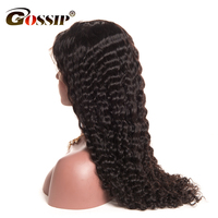 Deep Wave Full Lace Human Hair Wigs For Black Women Pre Plucked Brazilian Hair Wigs With