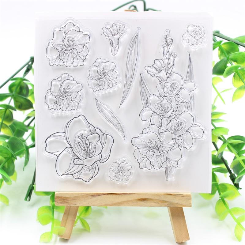 YPP CRAFT Flowers Transparent Clear Silicone Stamps for DIY Scrapbooking/Card Making/Kids Fun Decoration Supplies цена и фото