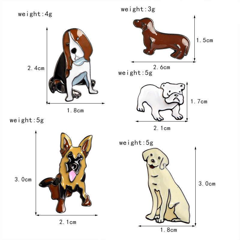 Anak Anjing Cerita! Hewan Anjing Dachshund Sharpei Labrador Gembala Jerman Beagle Bros Kerah Tombol Pins Lencana Hewan Peliharaan Busana Perhiasan