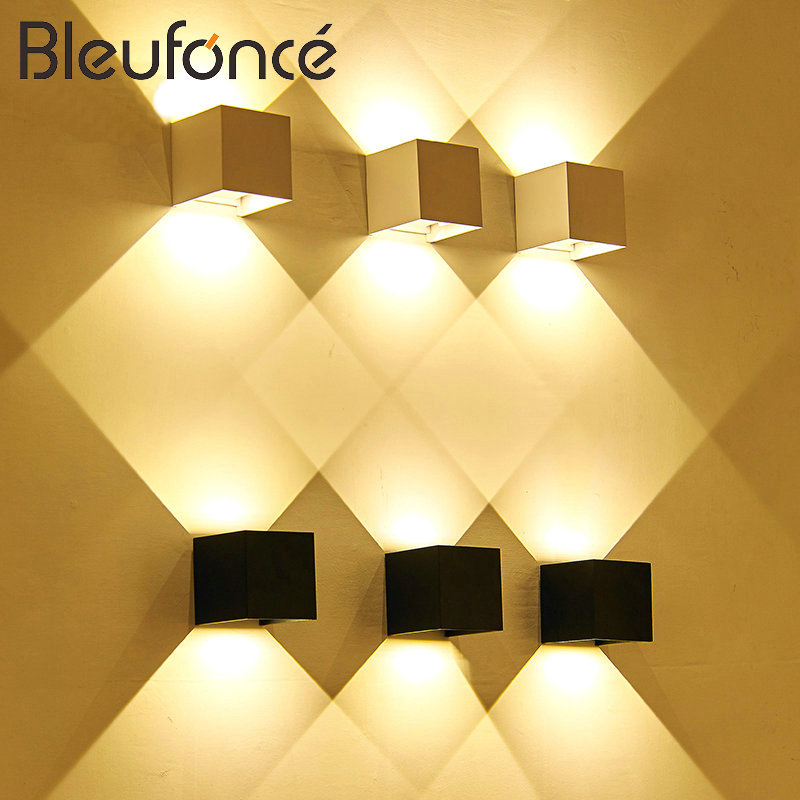 Outdoor Waterproof IP65 Wall Lamp Modern Simple LED Wall Light Indoor <font><b>Sconce</b></font> Decorative lighting Porch Garden Lights Wall Lamps