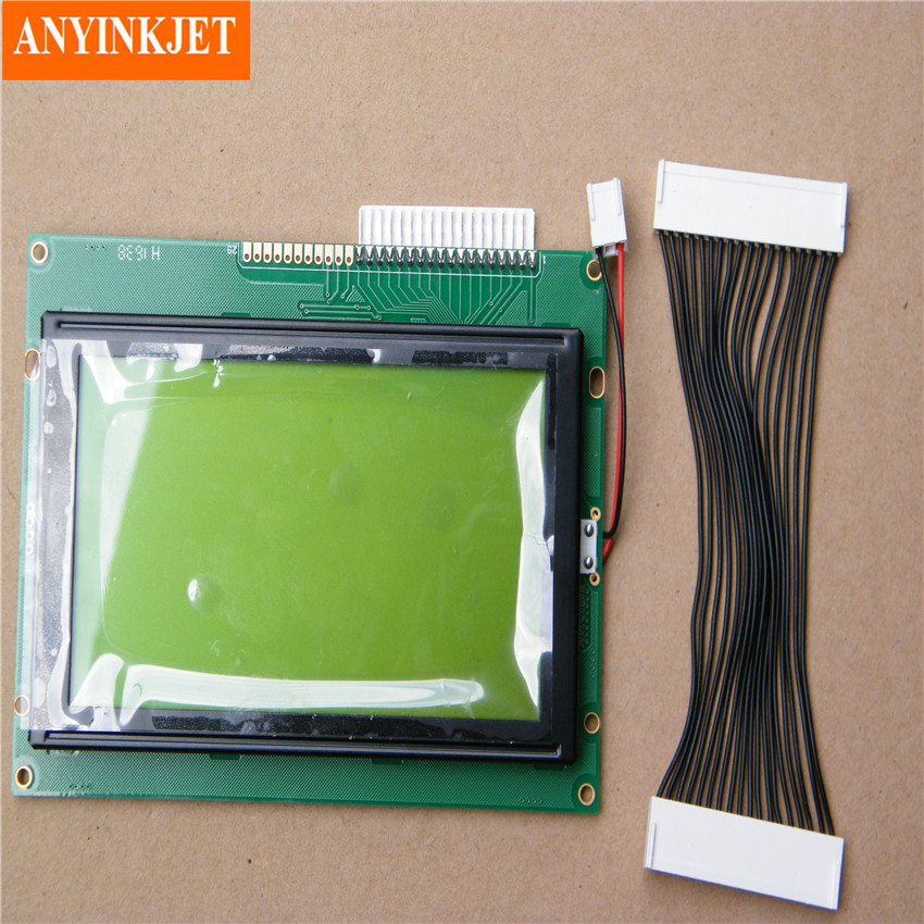 LCD Display 37727 for Domino A100 A200 A300 Printer Green type LCD pump repair kit dm36610 pc0213 for domino a100 a200 a300 a seriel printer double head pump