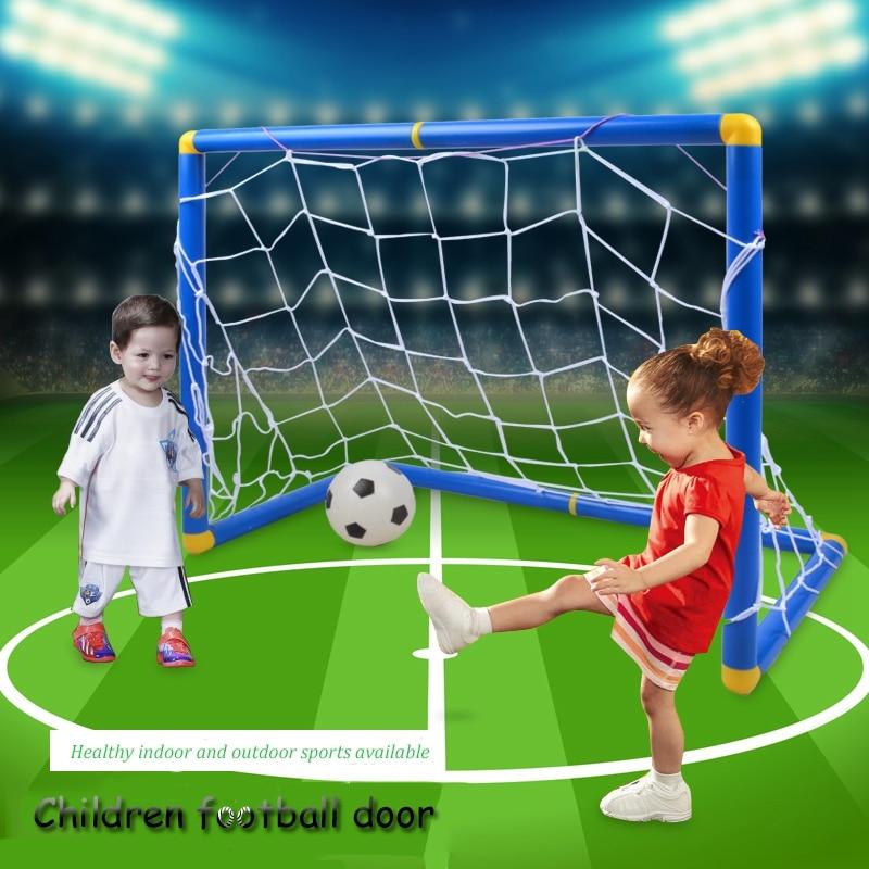 Portable Folding Children Football Goal Door Set Football Gate Outdoor Sports Toys Kids Soccer Door Set Cool Gifts