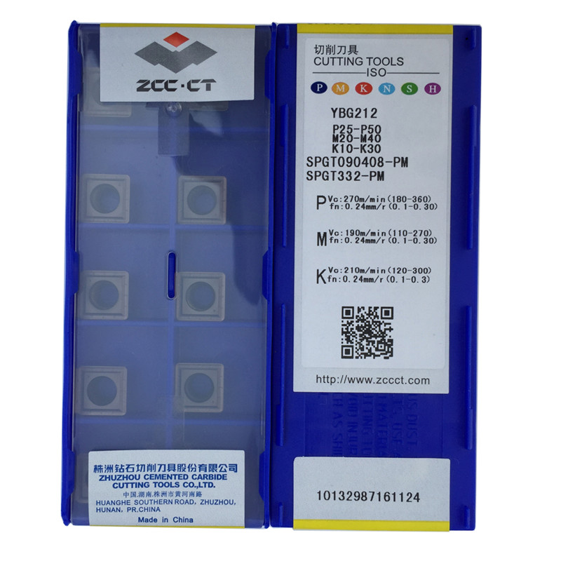 SPGT090408 PM YBG212 10pcs U drill insert SPGT090408 fast drilling use for steel and stainless steel