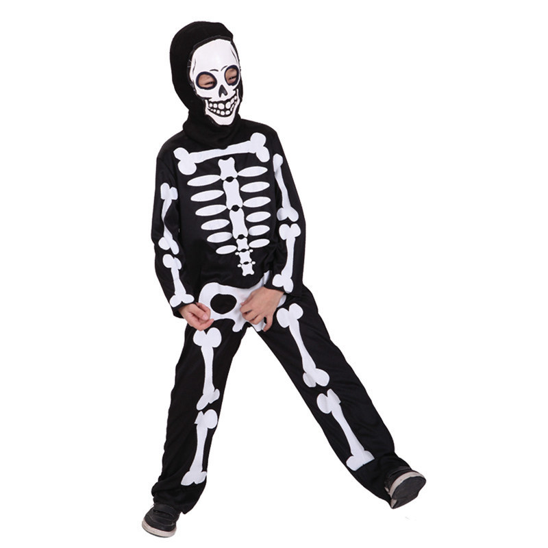 Carnival halloween skull skeleton costumes for kids boys ...