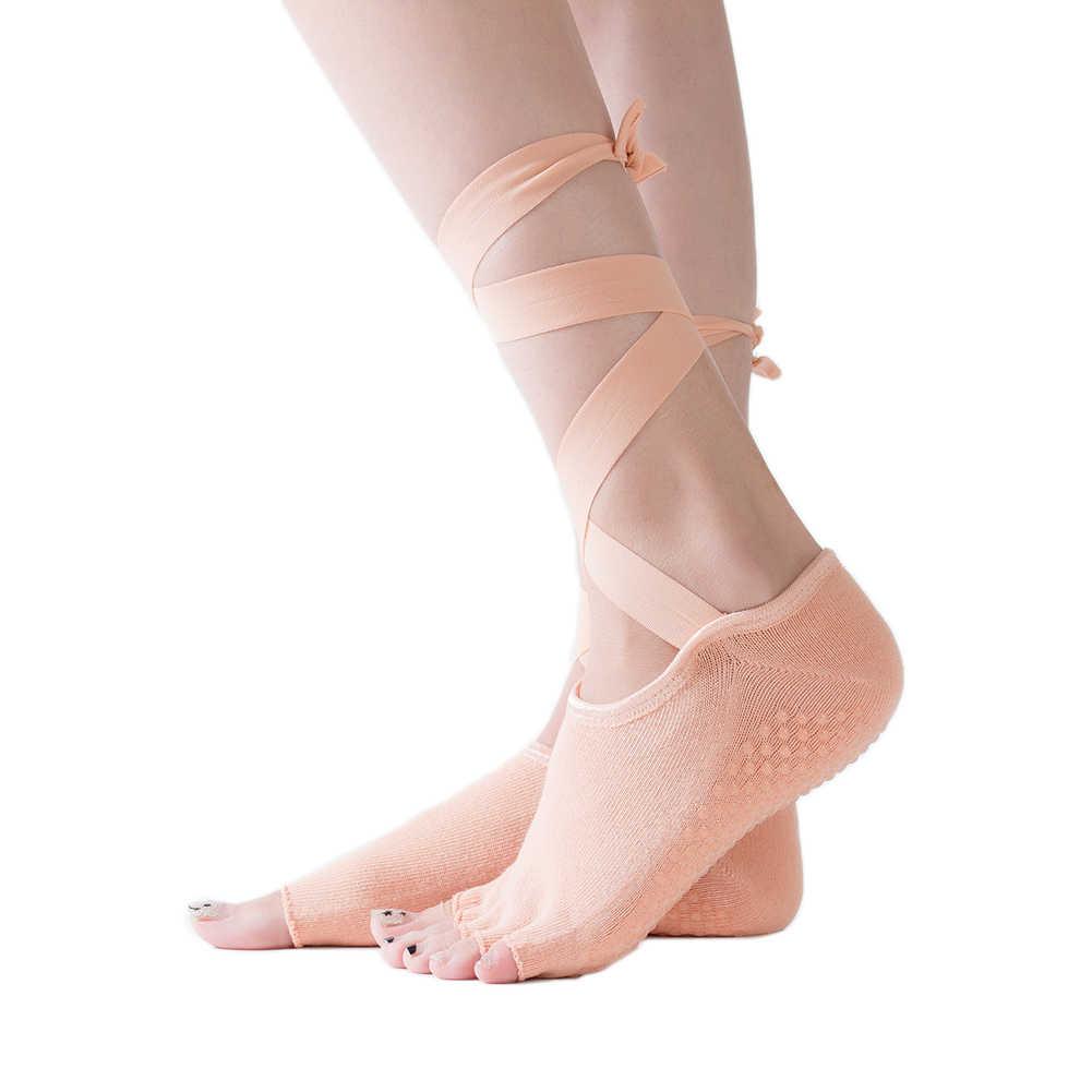 1 paio toe yoga Calzini e Calzettoni di sport delle donne di yoga 5 esercizio di cotone massaggio pilates Balletto Calzini e Calzettoni Quick-Dry Anti-slip calzini e Calzettoni
