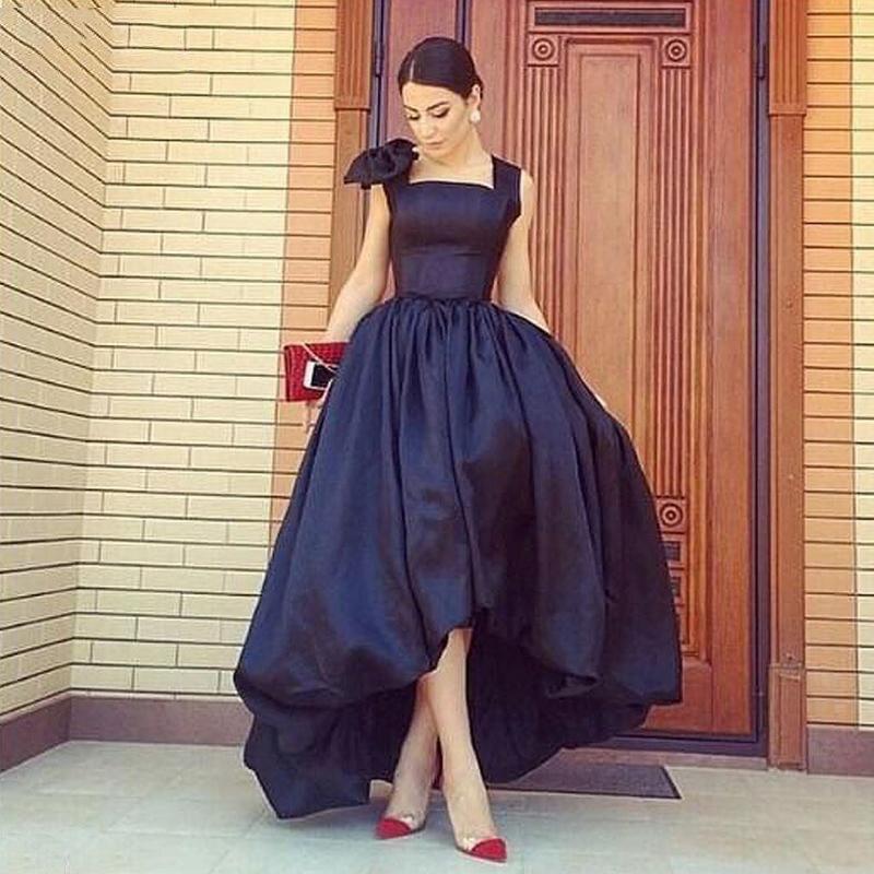 Faldas Por Bajo Alto Negro Falda Puffy Moda Asimétrica Larga Longitud Piso Encargo Maxi Noche Vestido Baile Formal Mujeres De g4Fw4Cqt