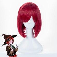 Danganronpa V3 Doden Harmonie Yumeno Himiko Wijn Pony Bob Anime Cosplay Haar Pruik 35Cm + Pruik Cap