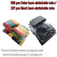 127 piezas./328 piezas. kits de tubo de Cable eléctrico de coche tubo de contracción de calor manga de envoltura de 8 tamaños variados color