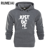 RUMEIAI Hoodie Men Letter 3D Print Hip Hop Sweatshirt Fashion Mens Hoodie 2017 Brand Winter Cotton