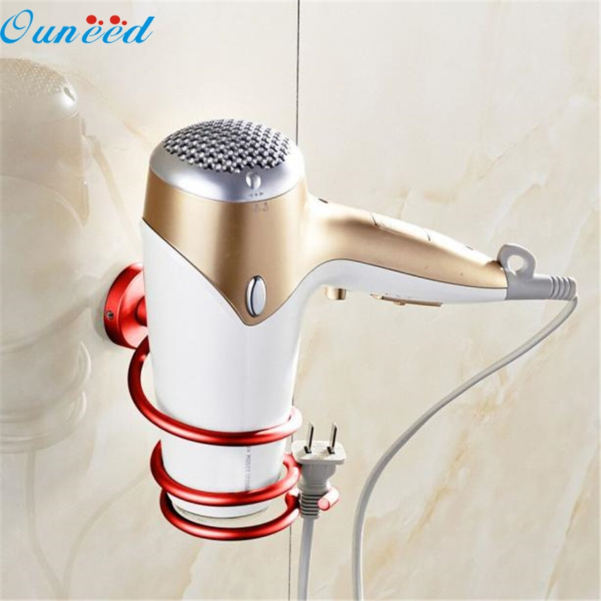 Home Wider Ouneed Wall Hair Dryer Rack Space Aluminum Bathroom Wall Holder  Shelf Storage Oct1017 Drop