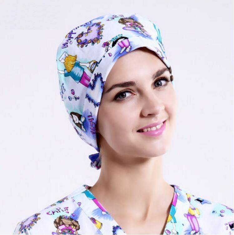 Hospital Pet Clinic Gourd Cap Doctor Man Woman Surgical Cap Absorb Sweat Terry Adjustable Short Hair Nurse Scrub Hat,hl2