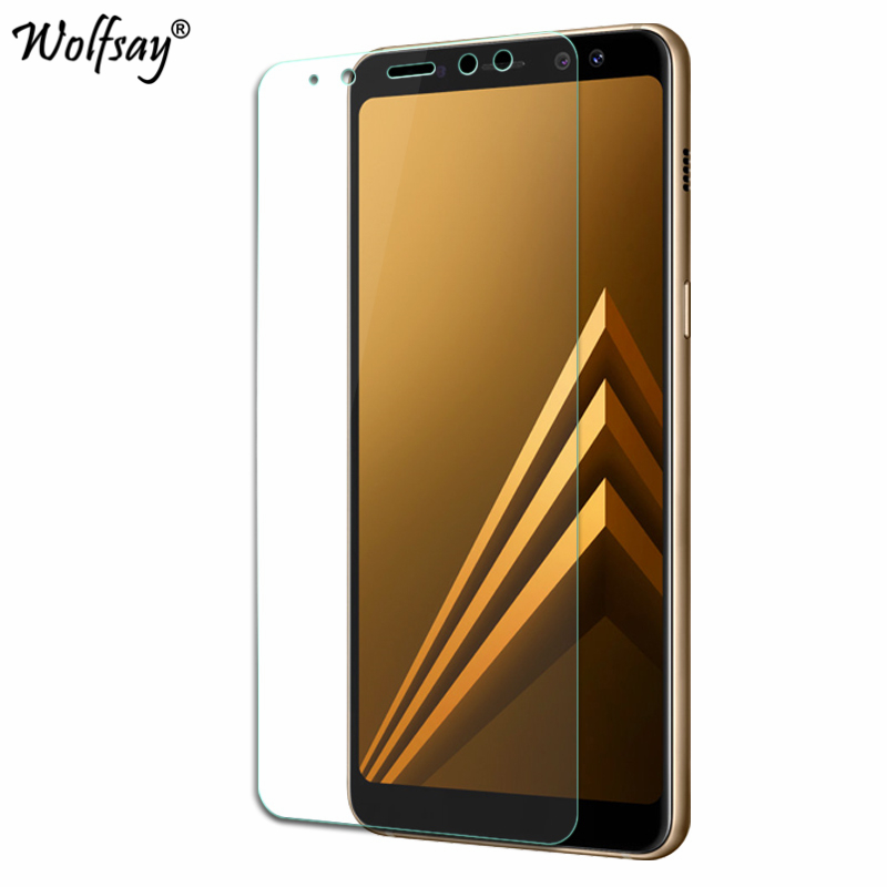 Image 2 - 2pcs For Tempered Glass Samsung Galaxy A8 2018 Screen Protector Anti Explosion Thin Film For Samsung Galaxy A8 2018 Glass A530-in Phone Screen Protectors from Cellphones & Telecommunications