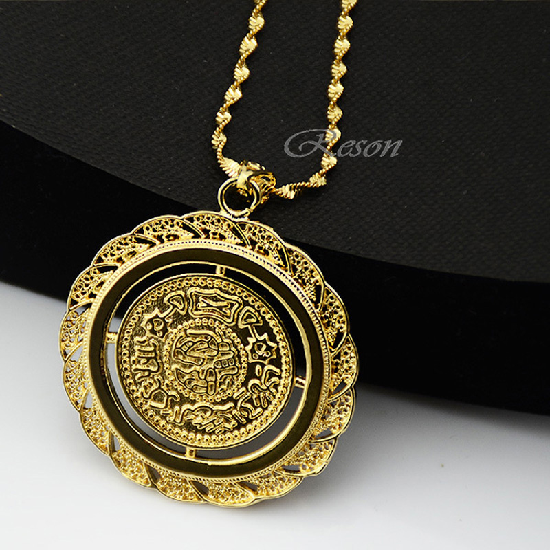 large mens dp tone iced gold chain cuban pendant necklace with quot crowned jesus out