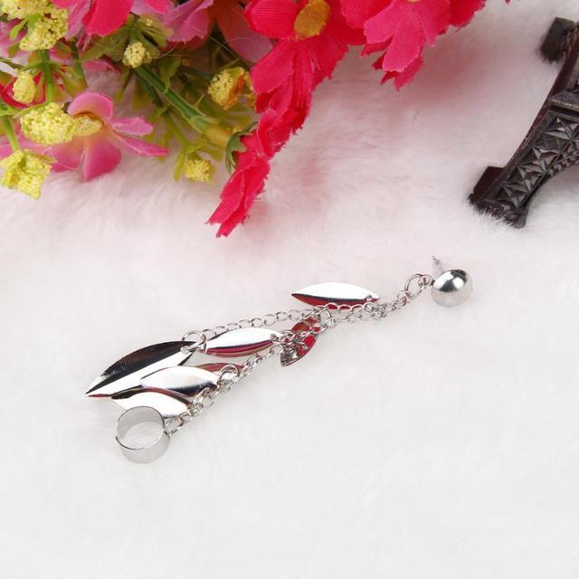 Leaf Tassel Earrings