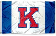 Kansas Jayhawks Big K Flag 3x5FT NCAA banner 100D 150X90CM Polyester brass grommets custom66,free shipping