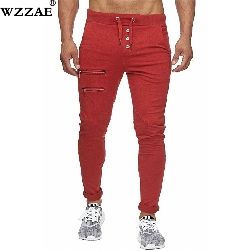 Men Pants 2018 New Fashion Brand Tooling pockets Joggers Pants Male Trousers Casual Mens Joggers Solid Pants Sweatpants XXXL