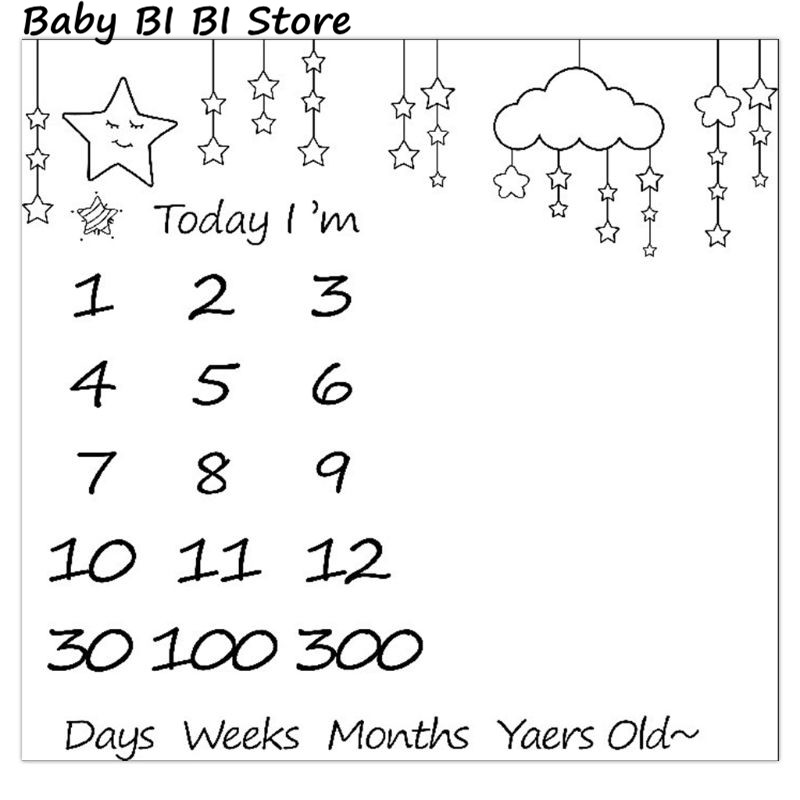 Baby Photography Props Blanket Newborn Swaddle Wrap Photo Background Cloth Infants Monthly Growth Commemorative Blankets