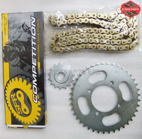GN250 GN 250 NEW HIGH PERFORMANCE GOLD O RING 520HV CHAIN & SPROCKET KIT MOTORCYCLE RACING PARTS FOR SUZUKI GN250