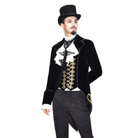 Gothic Vintage Mens Jacket Outerwear Long Sleeve Steampunk Windbreakers Male Court Royale Tuxedo Costume Cosplay Stage Coats New